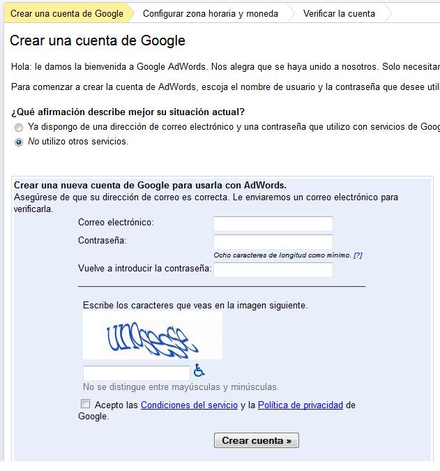 Tu primera campaña con Google Adwords