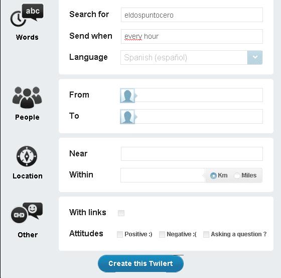 Herramientas de monitorización: Twilert