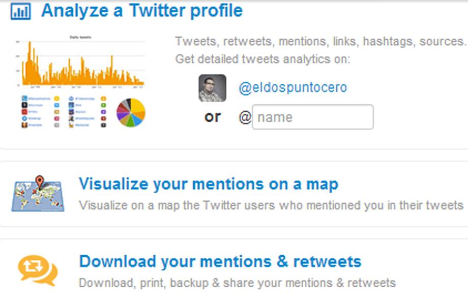 Twitonomy, analítica para Twitter