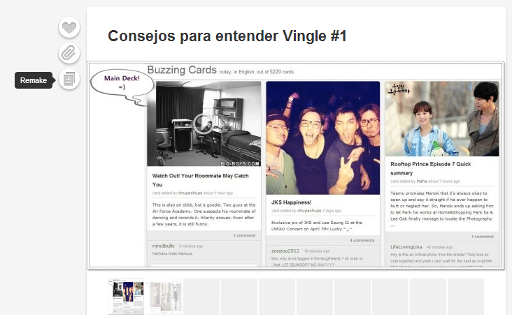 Vingle alternativa a Pinterest