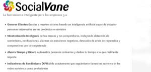SocialVane, herramienta de monitorización