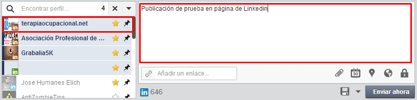 páginas de empresa en Linkedin con Hootsuite
