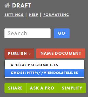 Draft, editor de texto markdown