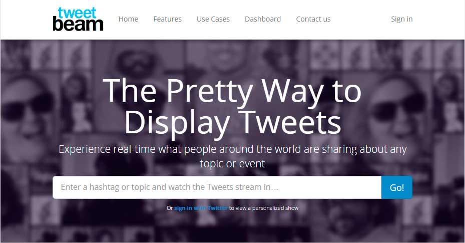 Tweetbeam, herramienta para mostrar tweets en pantalla