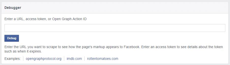 Facebook Debugger, por si la vista previa de Facebook no funciona