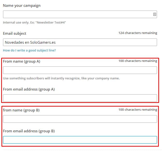 Crea tu primer test A/B con Mailchimp