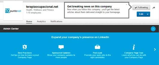 Admin center, novedades en las páginas de empresa de LinkedIn