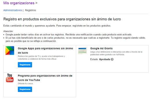 Google Ad Grants, 10.000 USD al mes en Adwords para organizaciones sin ánimo de lucro
